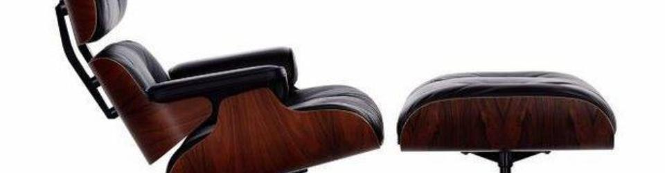 """Słynny """"król foteli"""" projektu małżeństwa Eamsów. Wygodny fotel typu Longue Chair z ottomanem - Eames Lounge Chair and ottoman"""